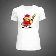 2016 summer Women T Shirt Pokemon Pikachu Goes Crazy anime Cartoon T-shirt Printed White Fitness Funny Hipster tee shirt homme