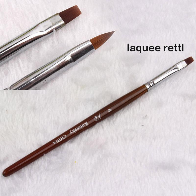 Brush On Nail Gel: Professional 2PCS/SET UV Gel Brush Acrylic Nail Art