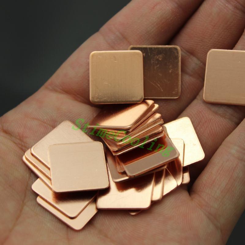 250 pieces/lot Copper Shim Pad Heatsink Cooling Laptop VGA 15*15*0.1mm(China (Mainland))