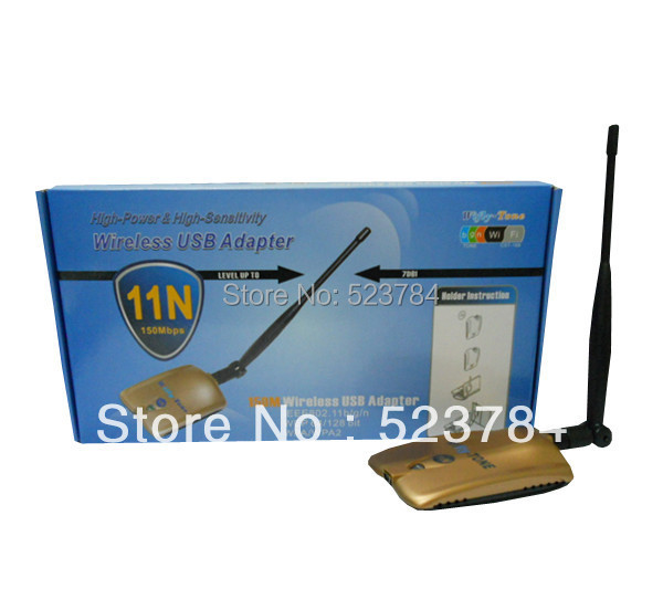 Free shipping Factory sale 150Mbps free internet receiver Wireless Adapter WiFi decoder ralink 3070 High Power WiFi Adapter(China (Mainland))