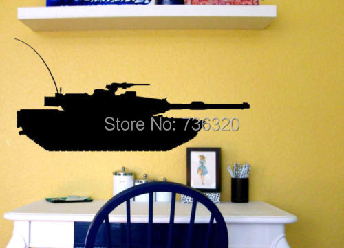 Creative Tank Vinyl Decal Military Army Kid Room Decor Wall Art Sticker Bedroom Home Decoration Gift kids - 365DAYS SWEET HOME (HOME Artist-Vicky Li store)