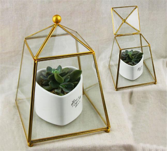 Miniature Victorian Glass House Containers Planter Flowerpot Garden Greenhouse Terrariums for Plants/Succulents Bohemian Decor(China (Mainland))