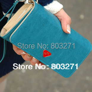 Smooth Card Wallet PU Leather Phone Bag For Apple iphone 4 4G 4S new Woman Wallet Fashion Free Shipping