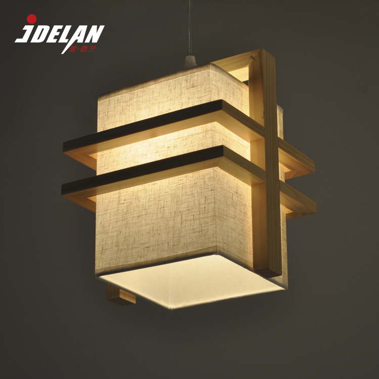 LOFT Europe Style Pendant Light Single/Double Head Wood Cloth E27 Home Decoration Best For Coffee shop Dinning Room WPL002(China (Mainland))