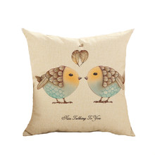 Love birds cushions without insert America vintage lucky design sofa decorative throw pillow office sofa vintage retro(China (Mainland))