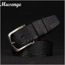 Buy Musenge Crocodile Half Leather Mens Belts High Designer Belt Men Ceinture Homme Pin Cinto cinturones hombre Cuero for $7.54 in AliExpress store