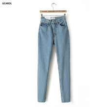 Women Brand High Waist Denim Jeans Slim Casual Vintage Pencil Jeans Spring Autumn High Quality Pants Plus Size 29 For Girls(China (Mainland))