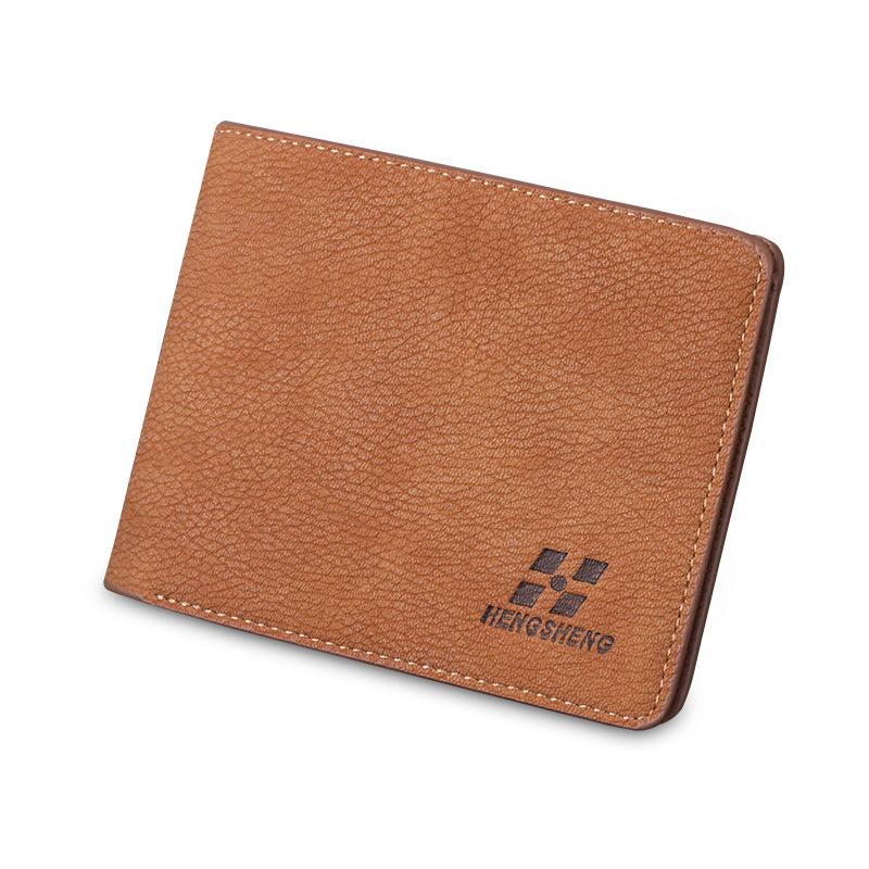 2016 minimalist designer jeans leather men small wallet male slim mini thin purse dollar price portomonee credit card holder(China (Mainland))