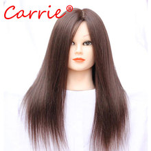 80% Human Hair Mannequin Head Training Head Practice Hairdressing Mannequin Cosmetology Hair Styling Mannequins Doll Heads