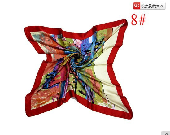 Chinese traditional  spring autumn winter 100% pure silk kerchief  shawl scarf  wrap for female 90*90cm gift  Free shippingОдежда и ак�е��уары<br><br><br>Aliexpress
