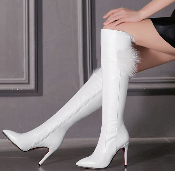 Over The Knee White Boots Promotion-Shop for Promotional Over The ...
