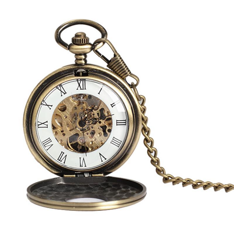 New Antique Bronze Roman Numerals Pocket Watch Men Women Watches Pendant with Chain Unisex Gift reloj de bolsillo(China (Mainland))