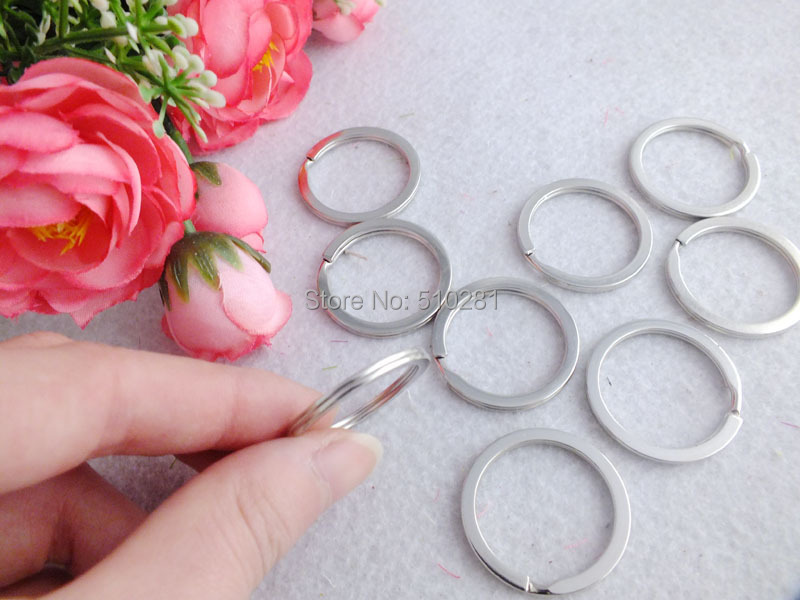Free ship! 25mm 1000pcs Round Key Split Rings Key Chain Link Connector Findings LK-2128(China (Mainland))