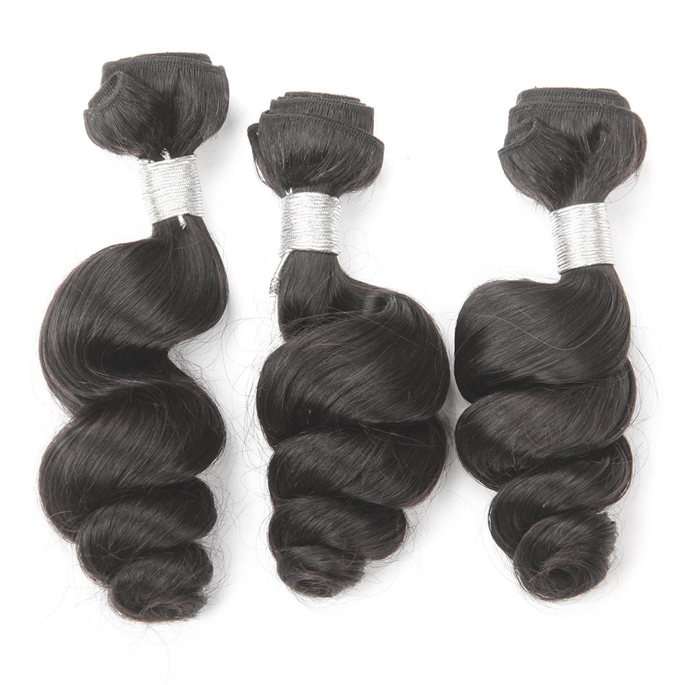 Peruvian Virgin Hair Loose Wave 3 Bundles Virgin Peruvian Loose wave Human Hair 7a Unprocessed Peruvian Loose curly virgin hair(China (Mainland))
