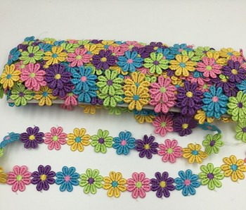 2.6cm Flower Pattern Embroidery Lace DIY Sewing Accessories 1yard/lot
