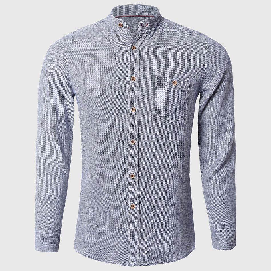 Popular Mandarin Collar Men Shirts Long Sleeve-Buy Cheap Mandarin ...