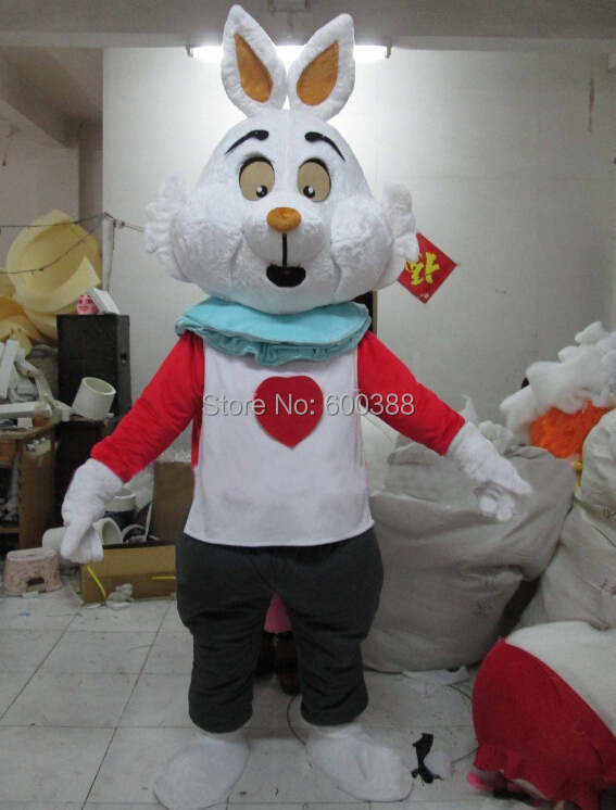 Real picture !!! New christmas cartoon character easter bunny mascot costume kids party costume(China (Mainland))