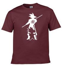 Новое поступление Япония аниме Dragon Ball Z футболка Супер Saiyan мужские Сон Гоку мужские футболки одежда хлопок Футболка(China)