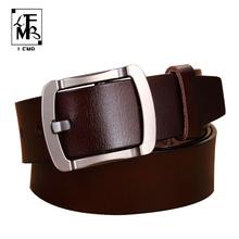 Buy LFMB New Designer Brand Belt Men High Genuine Leather Gold Pin Buckle Belt Men Vintage Casual Women Jeans Bel for $11.39 in AliExpress store