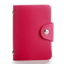 Мода PU кожа функция 24 бит чехол для карт бизнес-держатель для карт Мужчины Женщины Кредитная карта сумка ID паспорт карта кошелек(China)