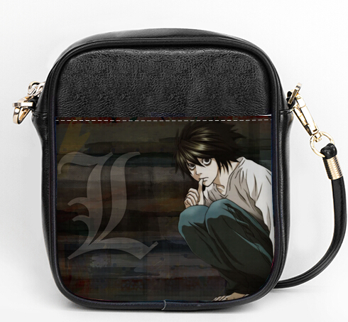 Casual bag messenger death note - L detective student leather shoulder bags(China (Mainland))