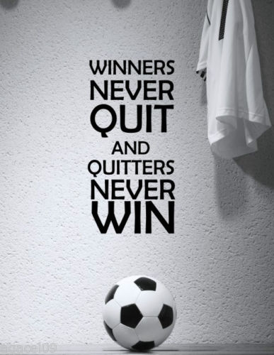 SPORT MOTIVATIONAL FOOTBALL BOYS ROOM WALL QUOTE VINYL ART STICKER COOL GRAPHIC free shipping(China (Mainland))