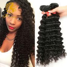 Malaysian Deep Wave Weaves 4 Pcs Lot Rosa Hair Products Virgin Malaysian Curly Hair Bundles Deep Curly Hair