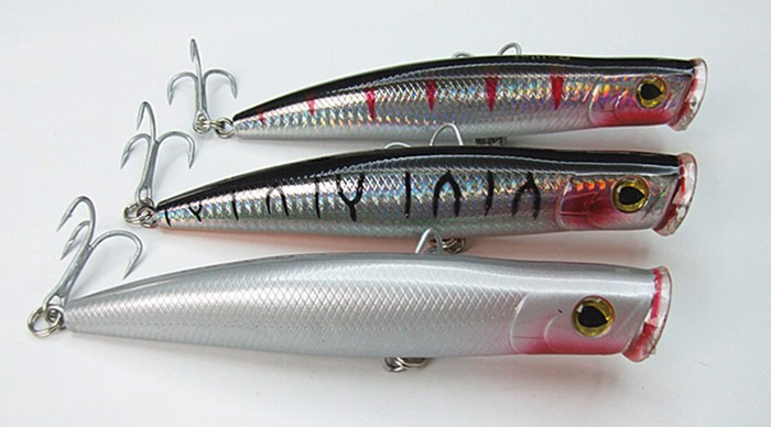 15.5cm/50g Floating Type Poper Lure Fishing Lure Fishing tackle Sea Bait Big Game Fishing Lure With China hook(China (Mainland))