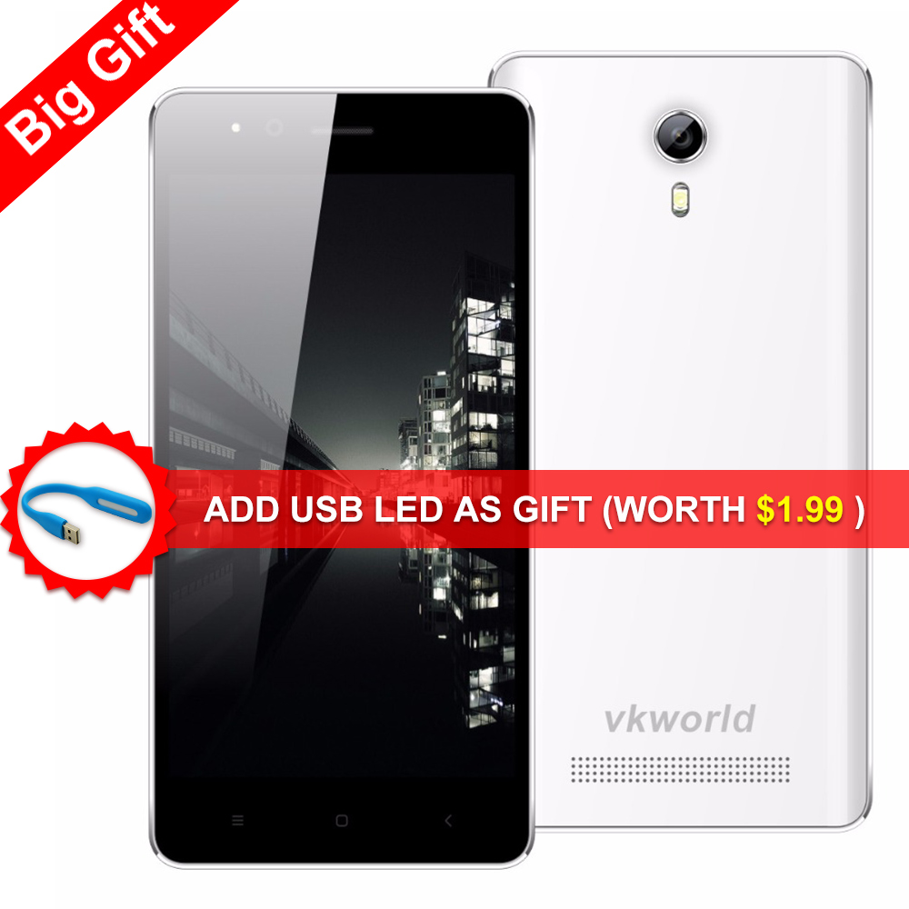 Free Gift Led Original VKWORLD F1 Smart phone 4.5 inch Android 5.1 MTK6580 Quad Core 1GB RAM 8GB ROM 5.0MP GPS Dual SIM 3G Phone(China (Mainland))