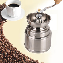 Handmade Handy Spice Coffee Bean Pepper Grinder Stainless Steel Grinder with Ceramic Core Coffee maker(China (Mainland))