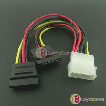 2pcs IDE to 2x Serial ATA SATA HDD Power Adapter Cable   #314