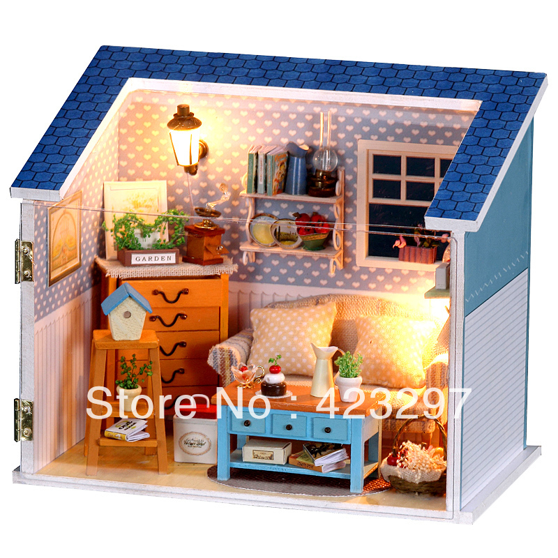 Diy toys for children sunshine home mini model handmade Gifts for home builders