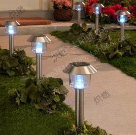 NEW!Plastic Outdoor Garden Solar Powered Lights Lawn Light LED Lamps(China (Mainland))