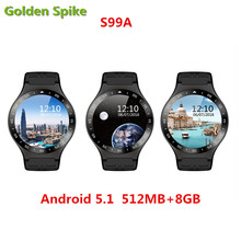Buy S99A Fashion Bluetooth Smart Watch android 5.1 support Heart Rate pedometer WIFI GPS 3G android/IOS pk kw88 lem5 smartwatch for $80.58 in AliExpress store