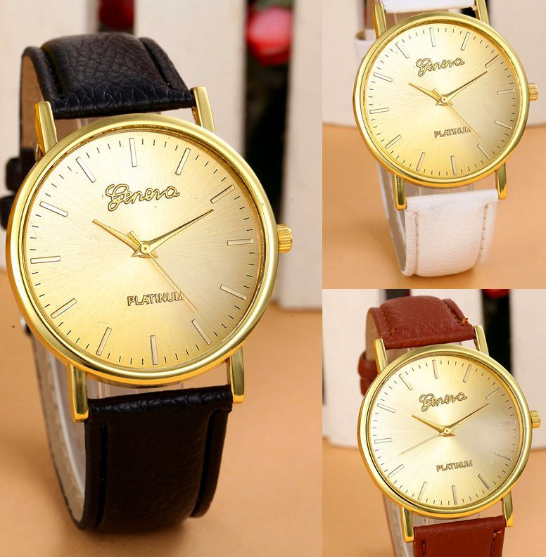 Гаджет  Vogue Luxury Women Watch Leather Band Analog Quartz Geneva WristWatch Lady Watches 2014 Free shipping None Часы