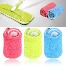 3 Colors Replacement Microfiber Washable Mophead Wet and Dry Cleaning Mop Pads Fit Flat Spray Mops Household Cleaning Tools(China (Mainland))