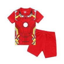 Buy Children clothes baby girls pyjamas boys Iron Man spiderman hulk pijamas sleepwear kids summer pajamas child toy story pyjamas for $5.80 in AliExpress store