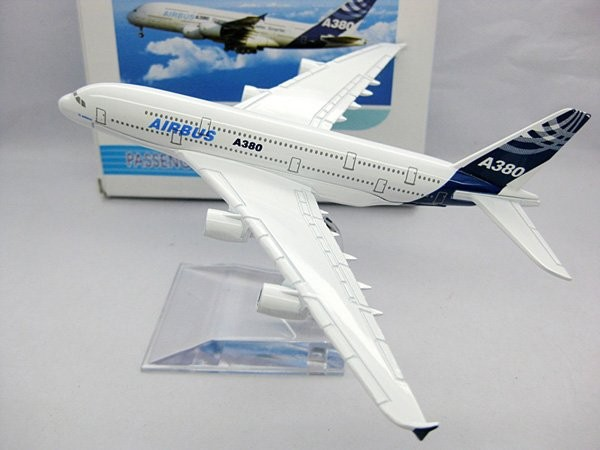 A380 Airbus airplane models,16cm High Quality metal airlines plane model wholesale, airbus prototype machine(China (Mainland))