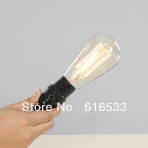 New 2014 Light bulb silk light bulb knitted electrical wire pendant light line nostalgic vintage bar light bulb(China (Mainland))