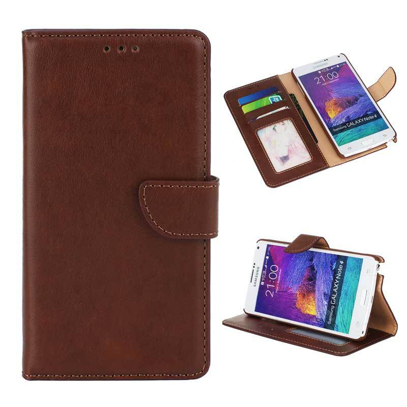 Wallet Flip Leather Case With Stand Card Slot sFor Samsung Galaxy Note 4 Case For Samsung Galaxy Note 4 Note4 N9100 Phone Bags(China (Mainland))