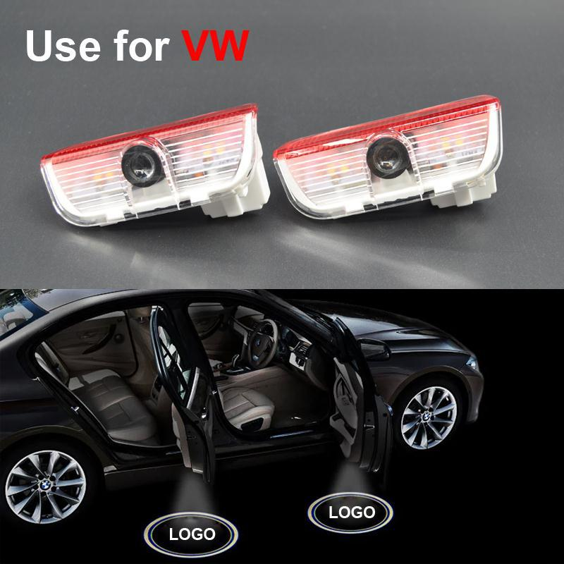 Newest Car Styling LED Welcome Logo Door Laser Shoot Light For VW Volkswagen Tiguan Golf 5 6 7 Passat B7 EOS ETC Free Shippping(China (Mainland))