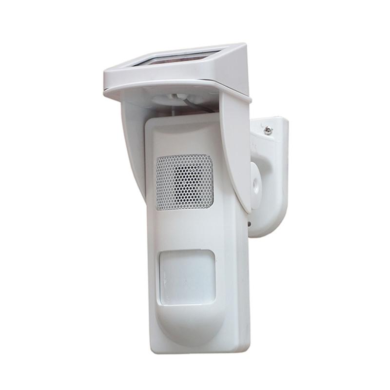outdoor pir sensor with solar charger alarm detector(China (Mainland))