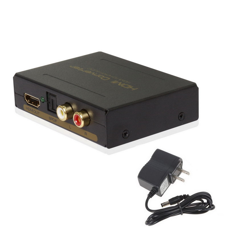 High Quality 2 Port HDMI Audio Extractor HDMI Optical Spdif Toslink + L / R Converter Stereo Analog Audio Extractor US Plug(China (Mainland))