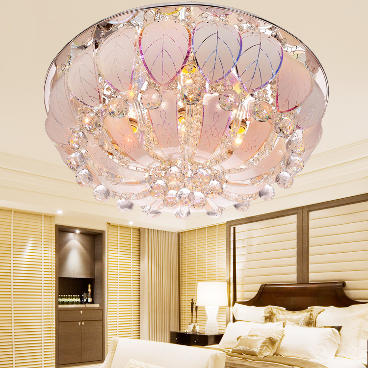 Modern Pendant Light Bedroom Rustic Ceiling Light Crystal Lighting Brief Dome