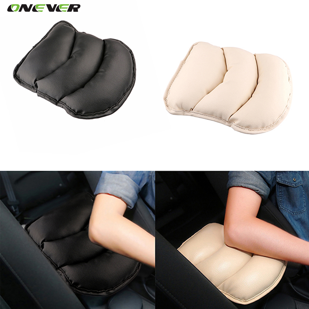 Soft PU Leather Car Auto Armrests Pads Cover Vehicle Center Console Arm Rest Mats Cushion for Audi Skoda Kia Ford Focus Armrest(China (Mainland))