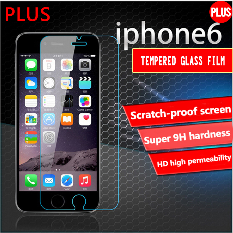 2016 New 0.26mm 9H For iphone 6 plus temper glass protector film on the iPhone 6s plus HD glass Screen Protector film(China (Mainland))
