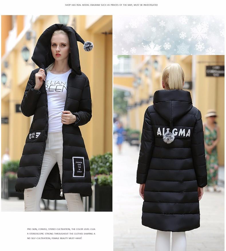 2016 Winter Women parka wadded jacket New Specials thickening Warm Luxury Long Cotton-Padded Down Coats jaqueta feminina casaco