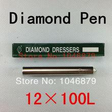 12mm Dia 100mm Length Grinding Wheel Diamond Dressing Pen Dresser Tool,Head for the natural diamond
