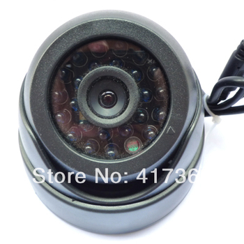 """Free Shipping, Cheap New 1/3"""" Cmos 600TVL CCTV Dome Camera, 3.6mm lens 24 BULE LED Night Vision Indoor surveillance,20m Infrared"""