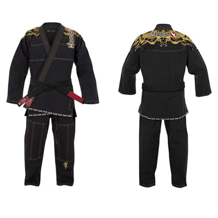 Free shipping high quality golden dragon embroidery hayabusa brazilian jiu jitsu gi kimono bjj judo wears 100% Preshrunk Cotton(China (Mainland))